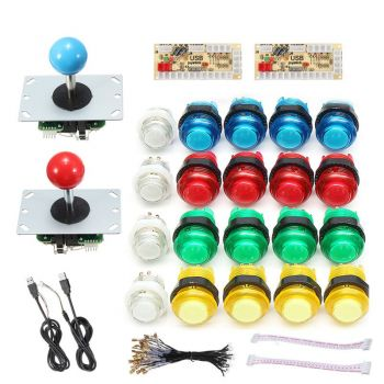 Arcade Machine Bundle - 2 Player - 30mm Button