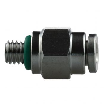 Stainless Steel Push Fit Connector 4mm M6 - PC4-M6