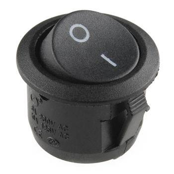 Rocker Switch SPST 6A/250VAC Round